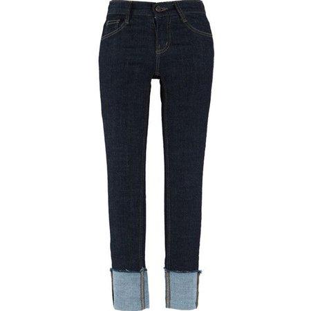 Roll-Up Hem Slim Jeans