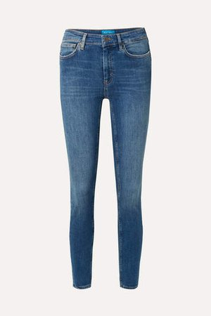 Bridge High-rise Skinny Jeans - Blue