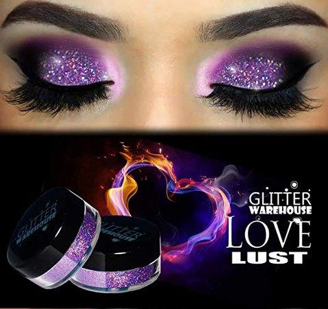 Amazon.com : Love Lust GlitterWarehouse Lavender Holographic Loose Glitter Powder Great for Eyeshadow / Eye Shadow, Makeup, Body Tattoo, Nail Art and More! : Beauty