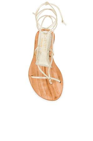 CoRNETTI Ermi Lace Up Sandal in Marbled Gold | REVOLVE