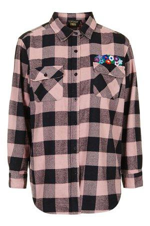 TopShop Pink Flannel