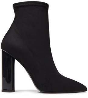 Crudelia 110 Patent Leather-trimmed Faux Stretch-suede Sock Boots