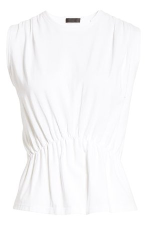 ATM Anthony Thomas Melillo Tuck Detail Sleeveless T-Shirt | Nordstrom