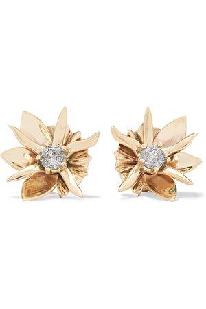 Meadowlark   Wildflower 9-karat gold diamond earrings   NET-A-PORTER.COM