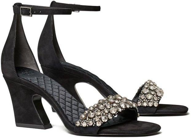 Crystal High-Heel Sandal