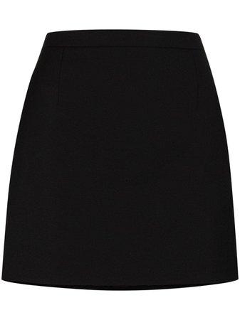 Saint Laurent Fitted Wool Mini Skirt - Farfetch
