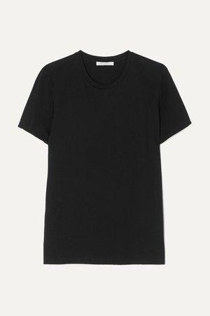 Black + NET SUSTAIN Jenna organic cotton-jersey T-shirt | Ninety Percent | NET-A-PORTER