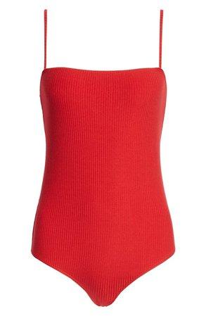 Reformation Crystal Stripe Bodysuit | Nordstrom