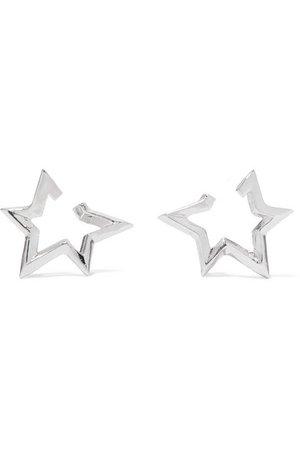 Jennifer Fisher   Mini Classic Star silver-plated earrings   NET-A-PORTER.COM