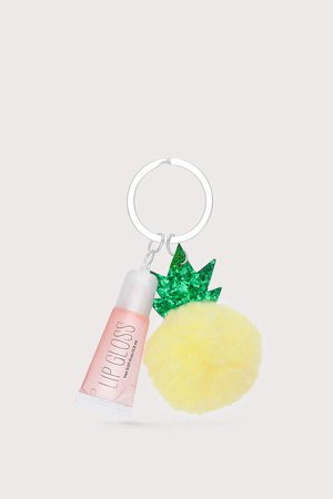 Key Ring with Lip Gloss - Yellow