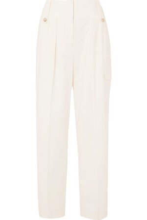 The Row | Piefer wool-blend wide-leg pants | NET-A-PORTER.COM