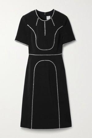 Black Violet crystal-embellished crepe dress   Huishan Zhang   NET-A-PORTER
