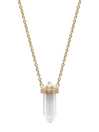Nialaya Jewelry quartz pendant chain necklace - FARFETCH