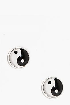 Elouise Yin Yang Stud Earrings