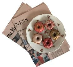 donuts and newspaper
