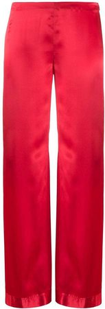 Romeo Gigli Pre Owned 1990s Wide-Leg Silk Trousers