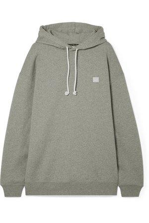 Acne Studios   Farrin Face oversized appliquéd cotton-jersey hoodie   NET-A-PORTER.COM