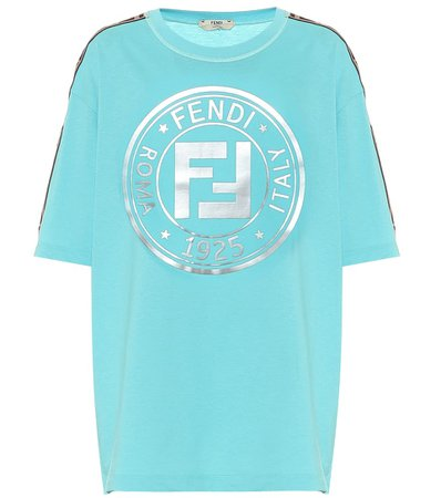 Logo Cotton-Jersey T-Shirt - Fendi | Mytheresa