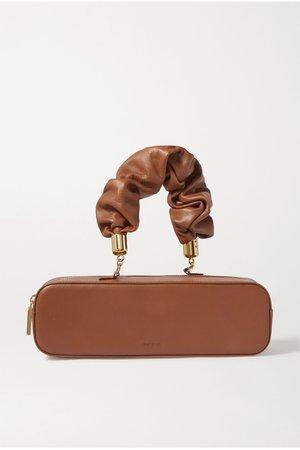 Tan Kinchaku mini leather tote | The Sant | NET-A-PORTER