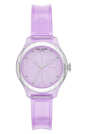 kate spade new york rosebank transparent strap watch, 32mm | Nordstrom