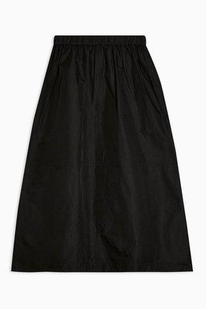**Black Taffeta A-line Skirt By Topshop Boutique | Topshop