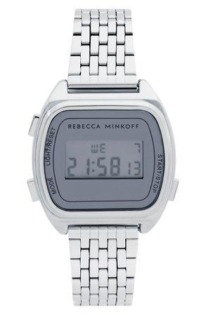Rebecca Minkoff Digital Bracelet Watch, 34mm | Nordstrom