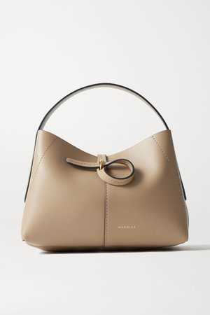 Sand Ava micro leather tote | Wandler | NET-A-PORTER