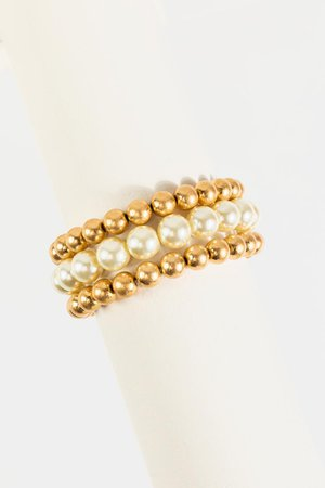 Lilly Pearl Beaded Bracelet Set | francesca's