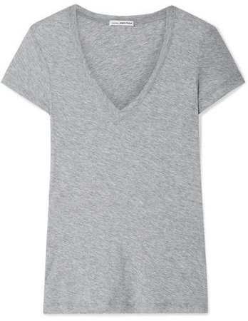 Casual Slub Supima Cotton-jersey T-shirt - Gray