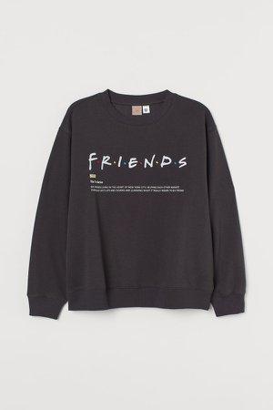 H&M+ Graphic-design Sweatshirt - Gray