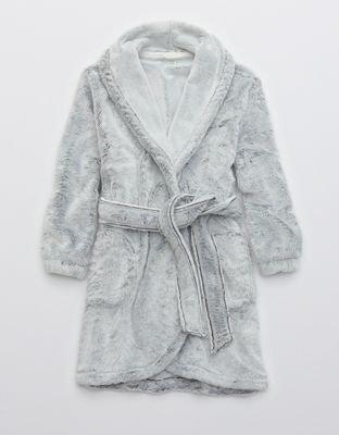 Aerie Sherpa Robe grey