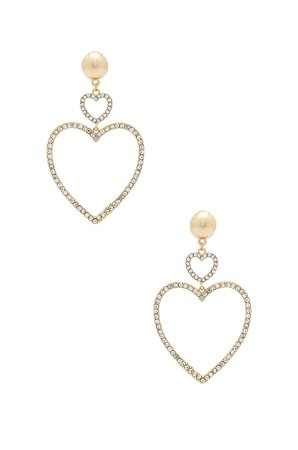 Two Hearts Drop Earrings