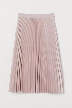 Pleated skirt - Light pink - Ladies | H&M