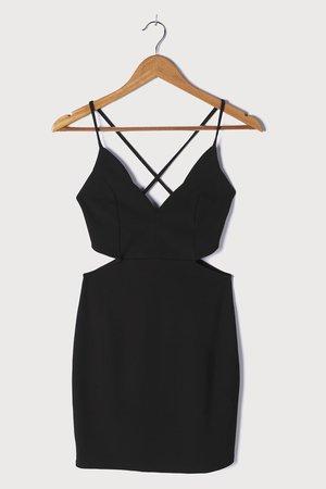 Black Mini Dress - Cutout Dress - Bodycon Dress - Mini Dress - Lulus