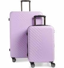 lavender suitcases