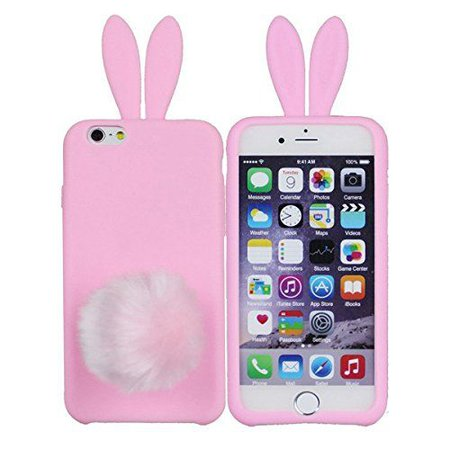 iPhone 6 Case-Furry Rabbit Tail Pink