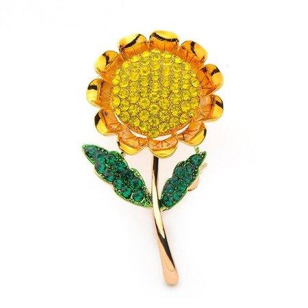 Beautiful Sunflower Brooch Flower Pin Fashion 2018 Women   Etsy