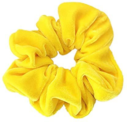 1 Piece Yellow Color Large Velvet Scrunchies for Auldt Women Large Elastic Hair Ties Ropes: Amazon.co.uk: Beauty