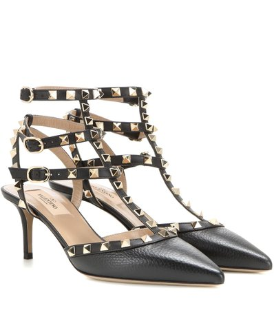 Valentino - Valentino Garavani Rockstud leather pumps | Mytheresa