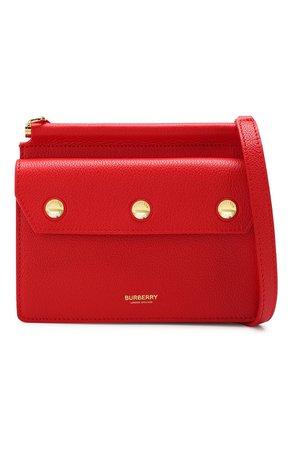 Женская красная сумка title BURBERRY — купить за 91300 руб. в интернет-магазине ЦУМ, арт. 8016055