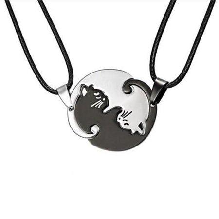 Yin Yang Cat Necklace – sharkeshops