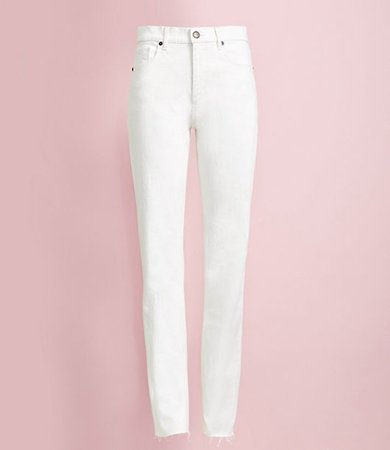 Petite Relaxed Straight Leg Jeans in White