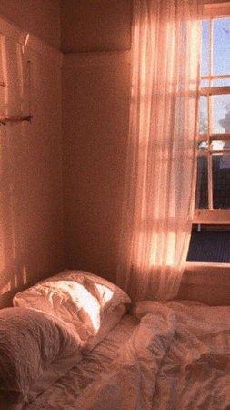 peach pastel light bedroom photography aesthetic