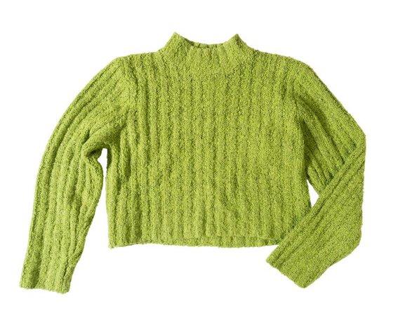Vintage Lime Green Knit Crop Top • Cool Friends Vintage Clothing & Apparel