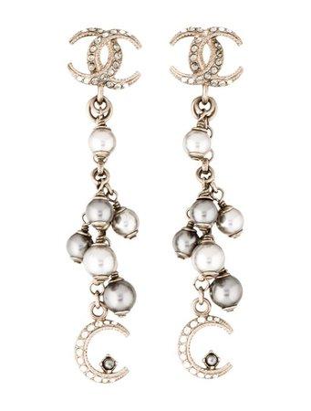 Chanel Faux Pearl & Strass Paris-Dubai Drop Earrings - Earrings - CHA332047   The RealReal