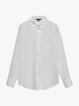 Однотонна поплінова сорочка - Women - Massimo Dutti