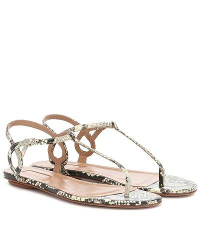 Almost Bare Snakeskin Sandals | Aquazzura - mytheresa.com