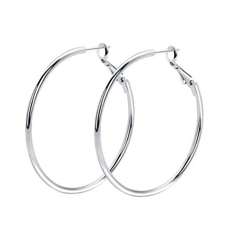 silver hoops - Google Search