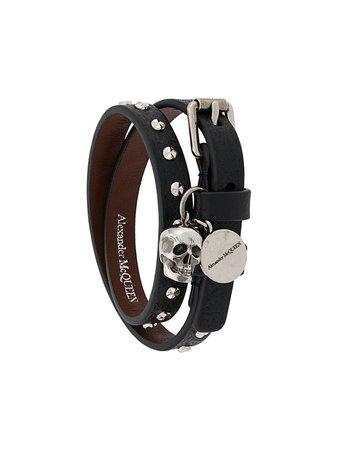 Alexander McQueen skull wrap bracelet - FARFETCH