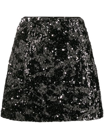 Michael Michael Kors Sequin Embellished Skirt - Farfetch